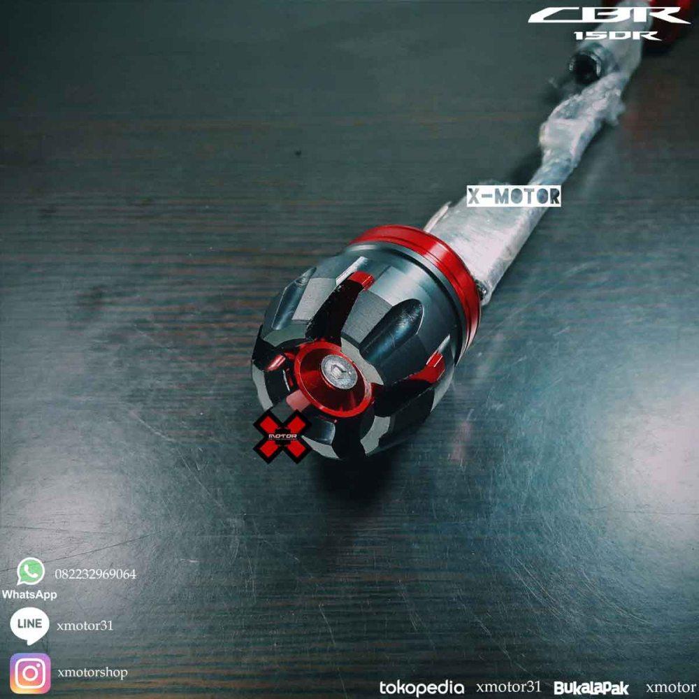 Frame Slider Cnc Merah Red Honda All New Cbr150r K45g Facelift Cbr 150 R Processed With Vsco C6 Preset