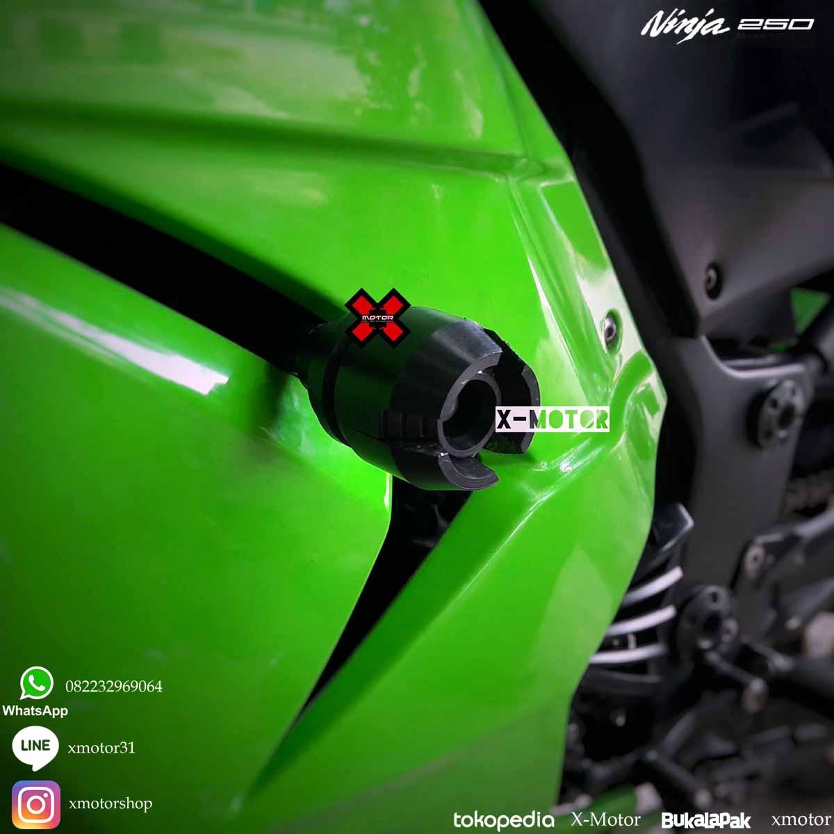 Frame Slider/pelindung Fairing Full Black Khusus Ninja 250r ...
